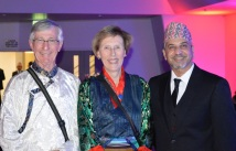 At the Nepal Fundraiser - Sept 2015 with Sir Edmund Hillary's niece - who represented the Trust - Hilary Carlile and her partner