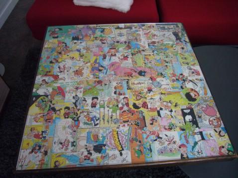 An old card table